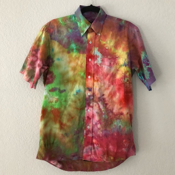 38e4c6602 Urban Outfitters Shirts | Ice Tie Dye Button Down | Poshmark
